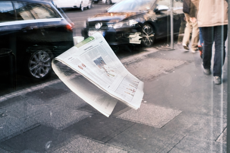 Floating Newspaper